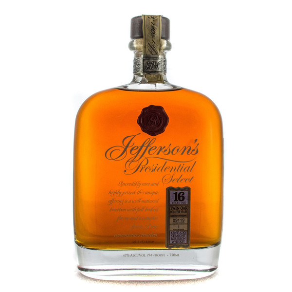 Jefferson's Presidential Select 16 Year Old