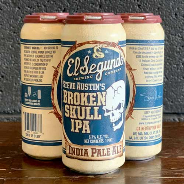 Buy Broken Skull A bad-ass 6.7% IPA designed by Steve Austin and ESBC for the working man and woman. Online at Sudsandspirits.com