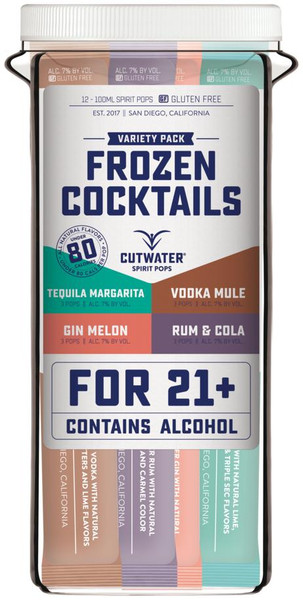 Buy Cutwater Frozen Cocktails Variety Pack (12PK 100ML)
