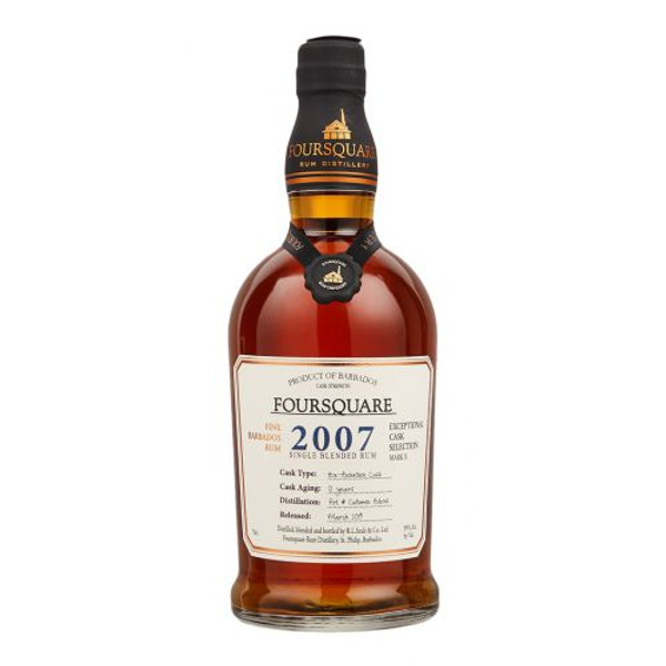 Buy Foursquare 2007 Single Blended Rum is single blended rum matured in ex-bourbon casks for 12 years in St. Phillip Barbados online at sudsandspirits.com and have it shipped to your door nationwide.