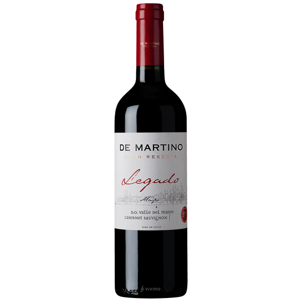 Buy De Martino Legado Cabernet Wine online at sudsandspirits.com and have it shipped to your door nationwide.