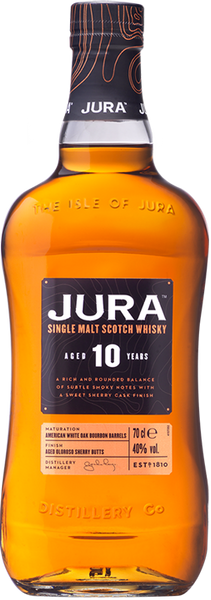 Buy Jura 10 Year Single Malt Scotch Whisky online at sudsandspirits.com and have it shipped to your door nationwide.