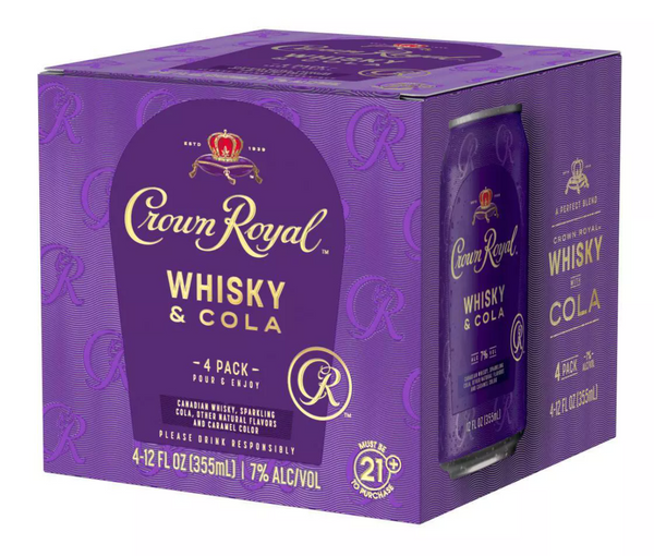 Buy Crown Royal Whisky & Cola Cocktail online at sudsandspirits.com and have it shipped to your door nationwide.