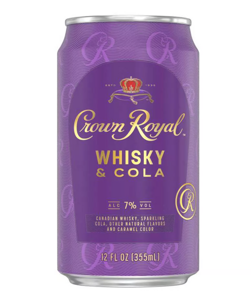 Crown Royal Whisky & Cola Cocktail (Single 12oz Cans)