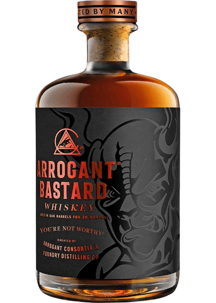 Buy Arrogant Bastard Whiskey online at sudsandspirits.com and have it shipped to your door nationwide.