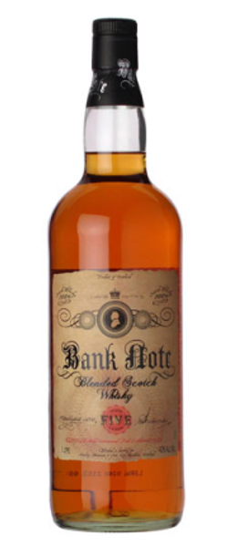 Buy Bank Note 5 Year Blended Scotch Whiskey online at sudsandspirits.com and have it shipped to your door nationwide.