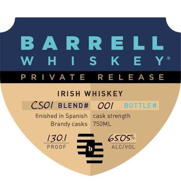 Barrell Private Release Irish Whiskey