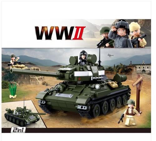 WWII T-34\85 Tank Brick Kit