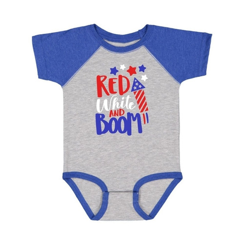 Red, White, and BOOM onesie