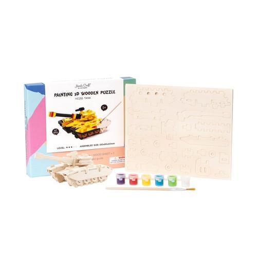Painting 3D Wooden puzzle