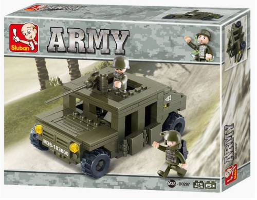 Military Jeep Building Bricks