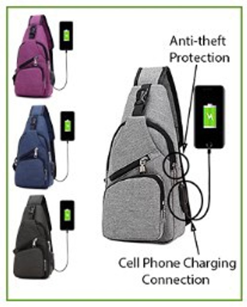 Nu Pouch Anti Theft Day Pack - Large