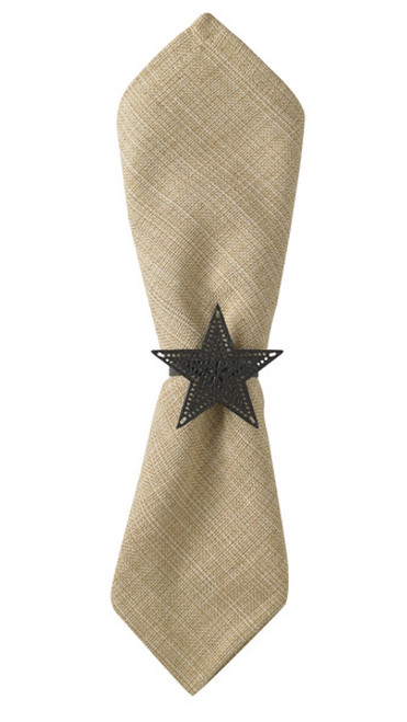 Napkin Ring Star Punched Metal