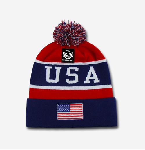 Rapid Dominance  Beanie USA Flag