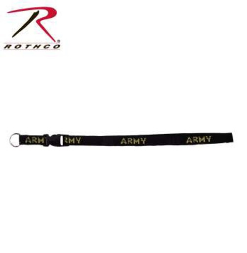 US Army Black and Gold Lanyard
