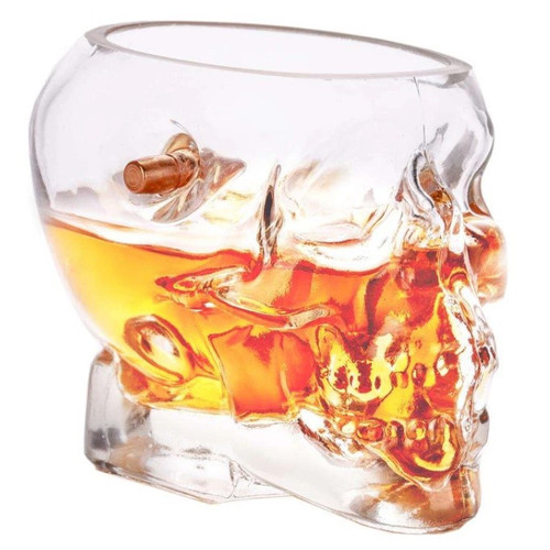 Bullet Glass_12 oz skull rocks glass