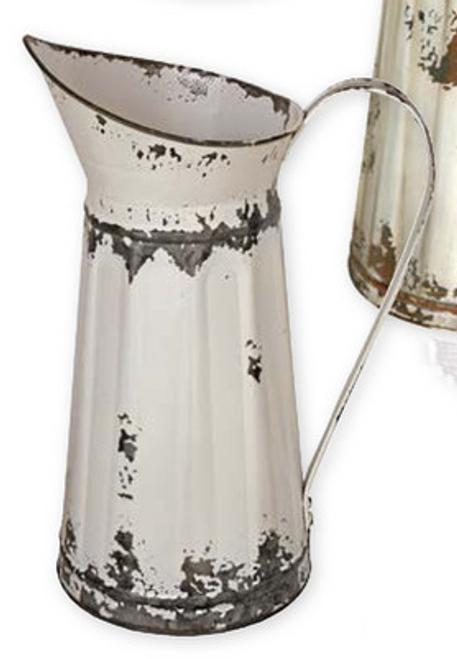 tin water pitcher White