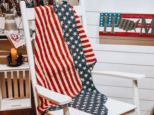 American Quilt Throw