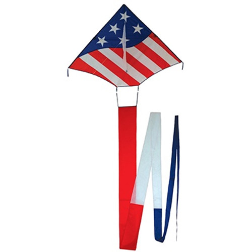 Patriotic Delta Kite w/ Flowing Tails