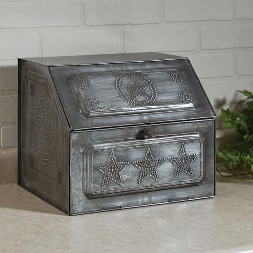 Star Metal Bread Box Galvanized