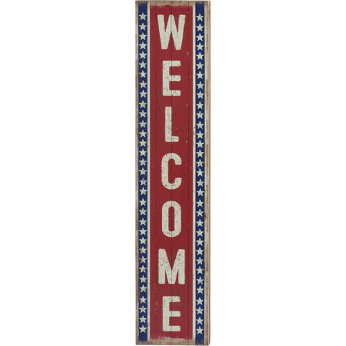 Porch Leaning Welcome Sign