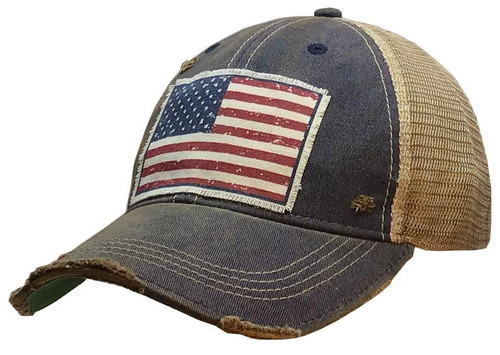 Distressed Hat Flag Patch