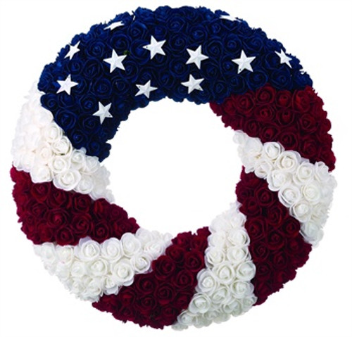 Wreath - Silk Rose Americana