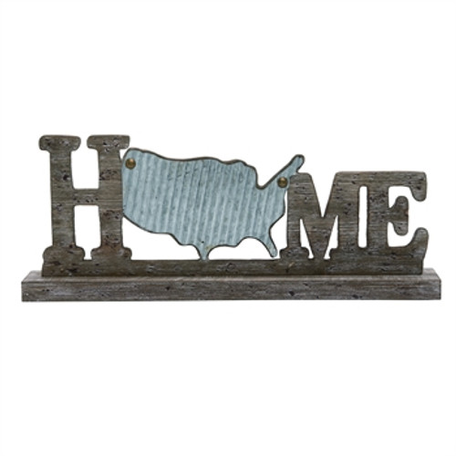 Home with corrugated metal US map