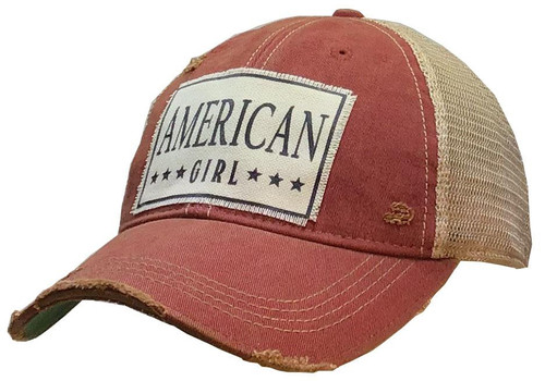 "Distressed Hat - ""American Girl"""