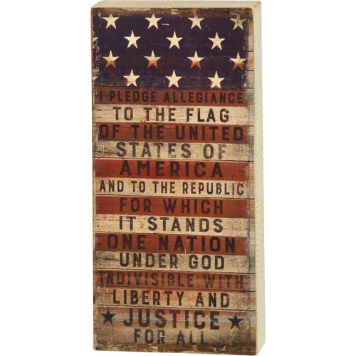 Box Sign-Pledge to the Flag