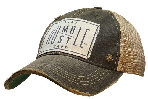 Distressed Hat_Stay Humble Hustle Hard