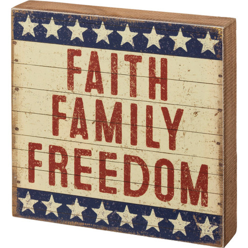 Box Sign-Faith Family