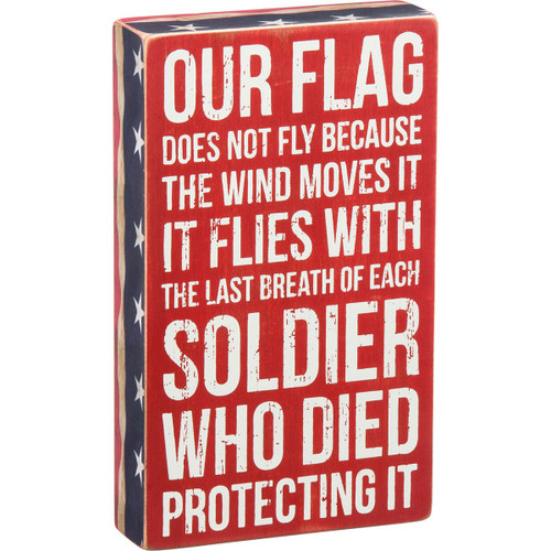 Box Sign-Our Flag