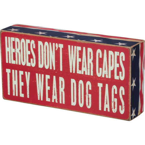 Box Sign- Heroes Dog Tags