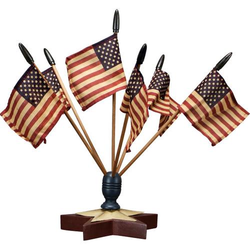 Star Flag Finial w/Flags