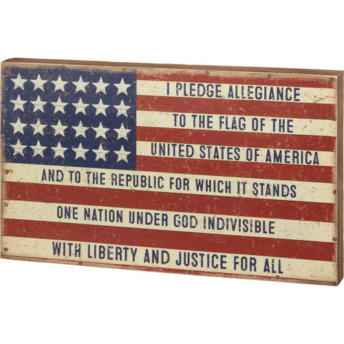 Box Sign- Pledge Allegiance