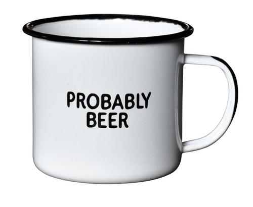 Probably Beer Enamel Mug