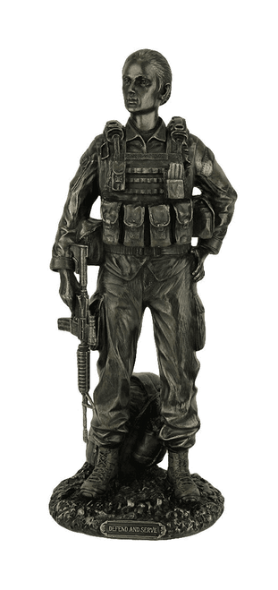 Defend and Serve- Female Soldier