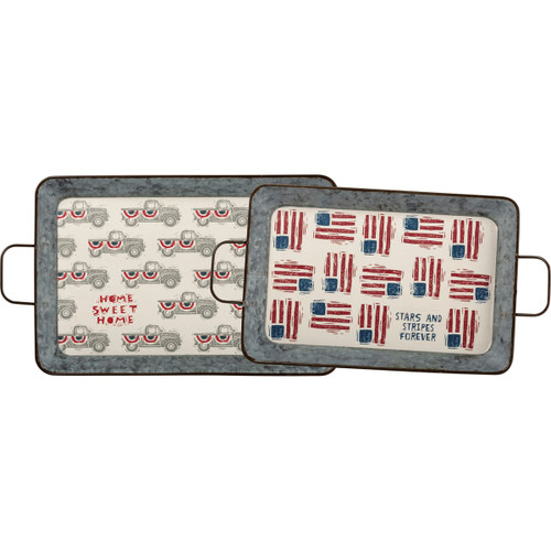 Tray Set - Stars And Stripes Forever