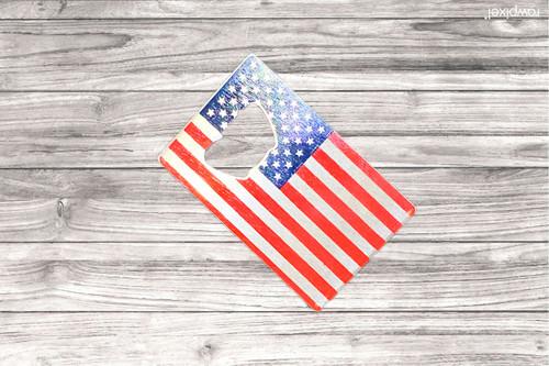 USA Flag Bottle Opener-NIM Logo