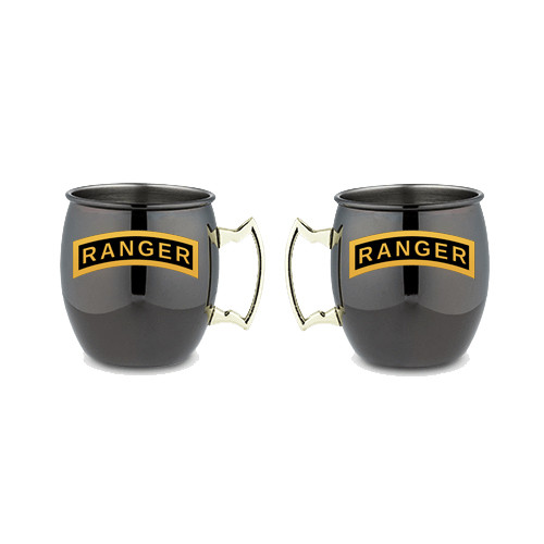 Black Moscow Mule w/ Gold Handle- Ranger Tab