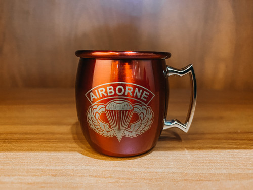 Red Moscow Shot Mug- Airborne Wings