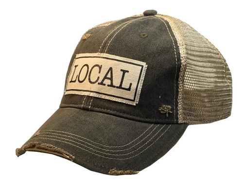 "Distressed Hat_ ""Local"""