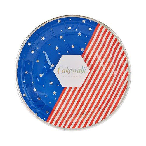 Stars and Stripes Appetizer Plates
