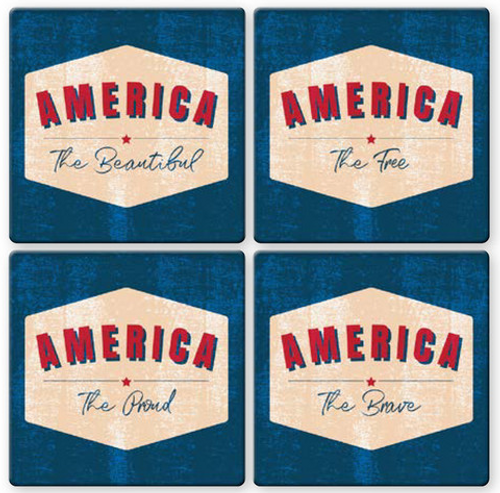 America Coaster- Set of 4
