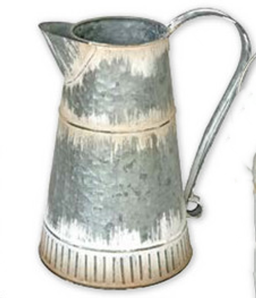 Tin Water Pitcher Tall