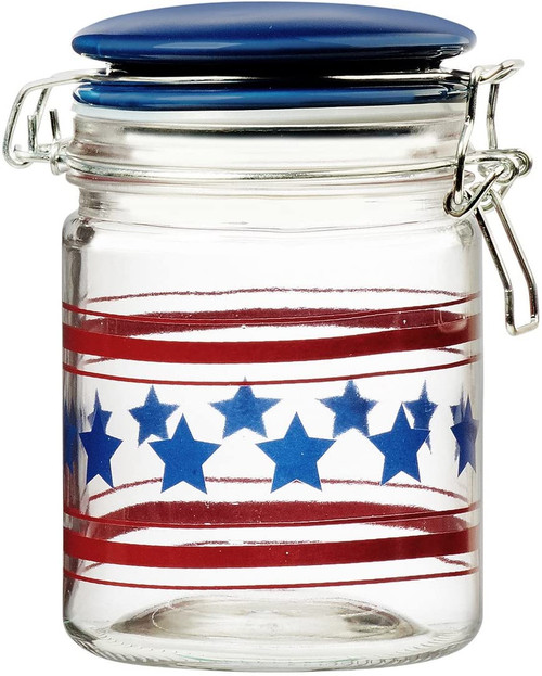 Stars and Stripe Glass Canister