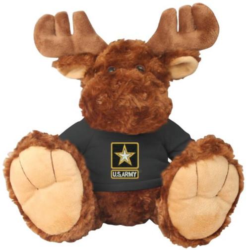 US Army Stuffed Animal on Black Shirt
