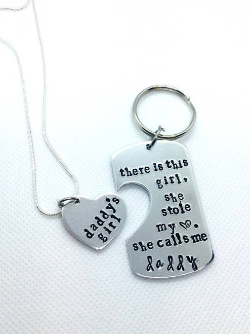 Keychain and Necklace Daddy's girl