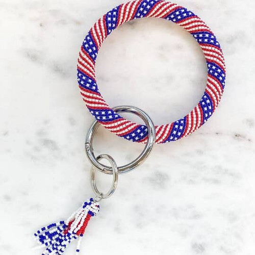 Patriotic Bracelet key chain
